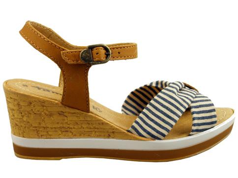 Немски дамски сандали Tamaris с удобна платформа и морски мотиви 128362k