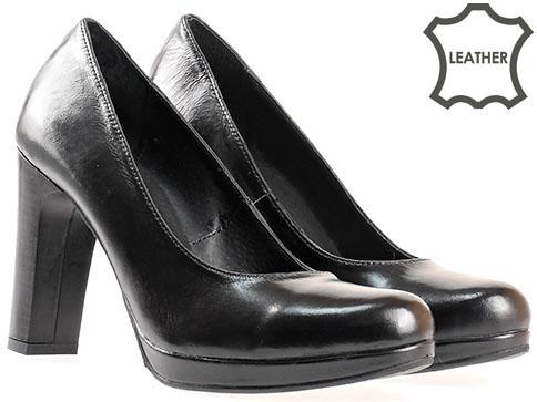 Комфортни дамски обувки на платформа, изработени от 100% естествена кожа с изчистена и стилна визия 50800ch