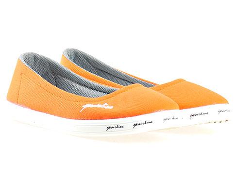 Модерни и удобни дамски спортни гуменки в оранжев цвят 7210o