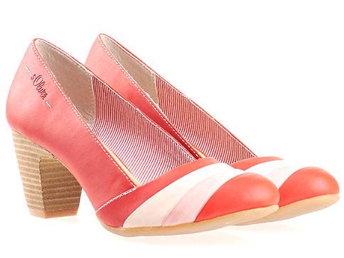 Дамски обувки S.Oliver на висок ток, изработени от висококачествена еко кожа 5522412chv