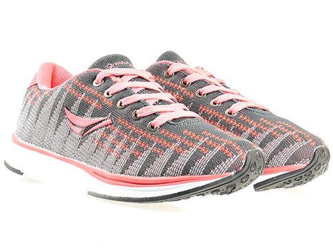 Меки и удобни дамски маратонки Runners, изпълнени в сиво - розова цветова гама 1327838-40sv