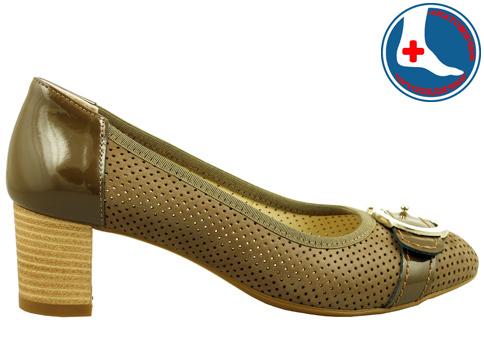 Луксозни дамски обувки с перфорация Naturelle z1202k