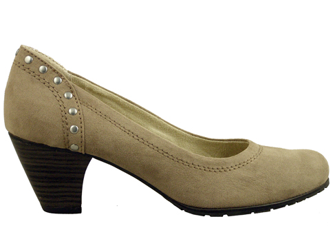Класически модел дамски немската обувки Jana на среден ток с интересни капси 8822462vk