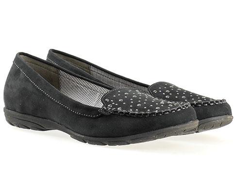 Комфортни дамски обувки Jana, изработени от висококачествен текстил в черен цвят 822160vch