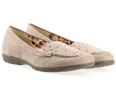 Комфортни дамски обувки Jana, изработени от висококачествен текстил в кафяв цвят 822160vk