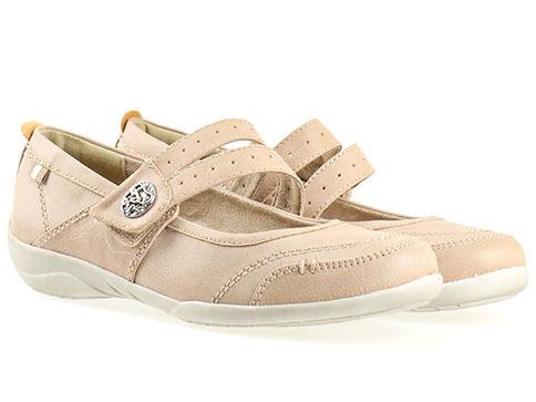 Ежедневни дамски обувки Jana, изработен от висококачествена еко кожа в бежов цвят 824660bj