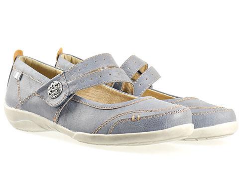 Ежедневни дамски обувки Jana, изработен от висококачествена еко кожа в син цвят 824660s