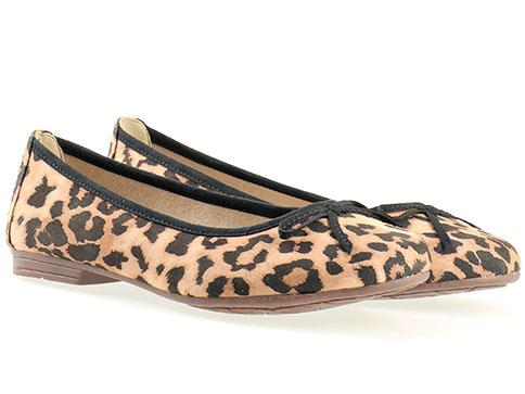 Равни дамски обувки тип балеринки, от висококачествена кожа, производител Jana 8822164nps