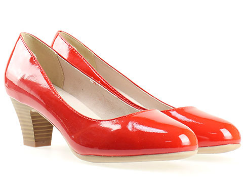 Комфортни дамски обувки Jana, Изпълнени са във висококачествен червен, еко лак 8822463lchv
