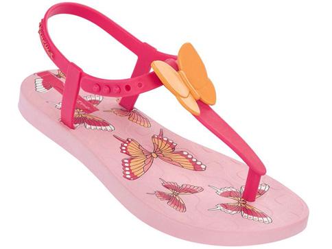 Удобни детски сандали Ipanema за момичета със свежи пеперуди в розов цвят 81206203230