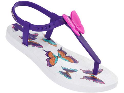 Удобни детски сандали Ipanema за момичета със свежи пеперуди в лилав цвят 81206225150