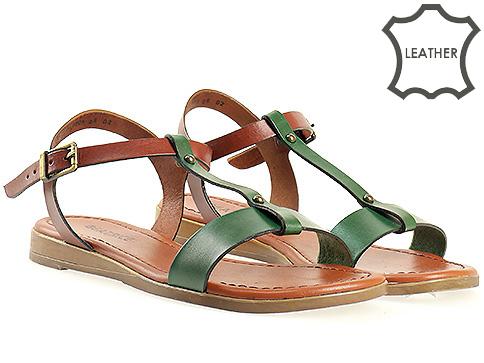 Дамски сандали от естествена кожа в атрактивна комбинация от цветове m1006kz