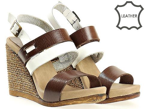 Дамски сандали на платформа от естествена кожа m5215kb