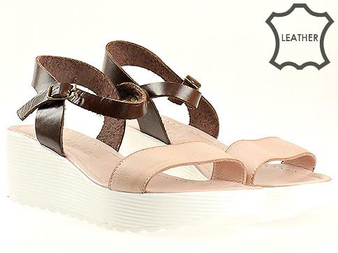 Модерни дамски сандали  в комбинация два цвята m7050krz