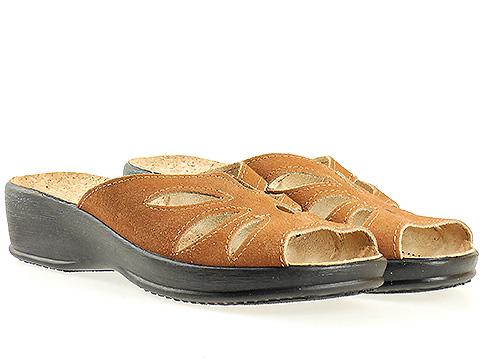 Анатомични  дамски чехли  с комфортно ходило от висококачествен текстил 9562k