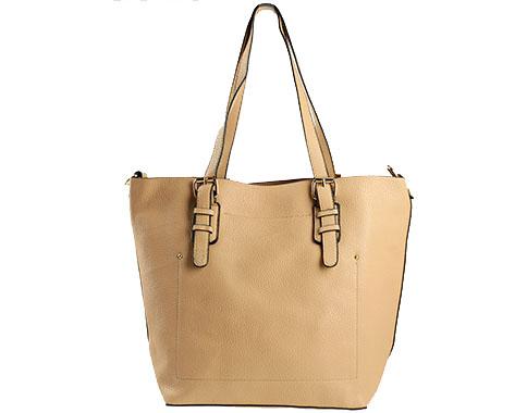 Стилна дамска чанта в светло кафяв цвят с изчистен дизайн ch0144k