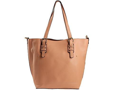 Стилна дамска чанта в розов цвят с изчистен дизайн ch0144rz