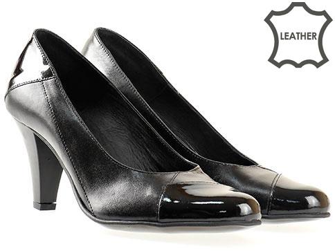 Дамски обувки с елегантен и стилен дизайн, българско производство от 100% естествена кожа 31407ch
