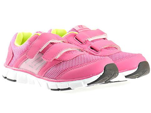 Детски маратонки с две лепенки в розов цвят, изработени за марката Bulldozer v6025-35ck