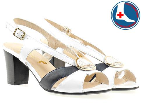 Дамски елегантни сандали на удобно анатомично ходило с катарама в цветова комбинация  z1656bs