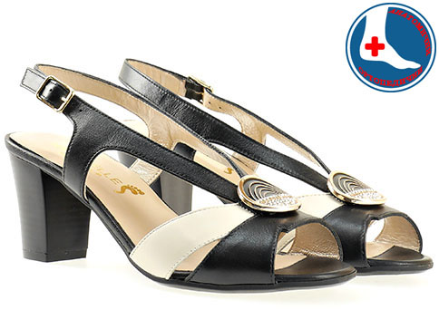 Дамски елегантни сандали на меко анатомично ходило с каишка на анатомично ходило от висококачествена естествена кожа z1656chbj