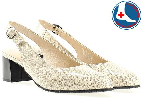 Анатомични дамски обувки на среден ток в бежов цвят z6618808lbj