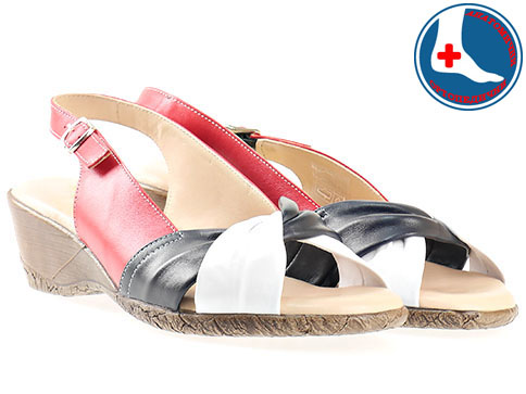 Дамски сандали Naturelle в лятна цветова комбинация с каишка на удобно анатомично ходило z99138ps