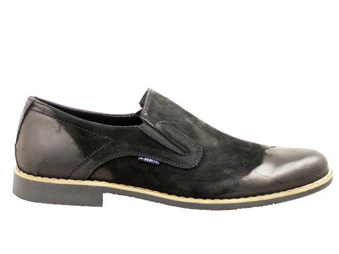 Спортно - елегантни мъжки обувки с изчистена визия, изработени от 100% естествен набук с трит ефект 3993nch