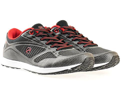 Олекотени и удобни дамски маратонки Runners, изпълнени в червено - чернаа цветова комбинация 1513174-40ch