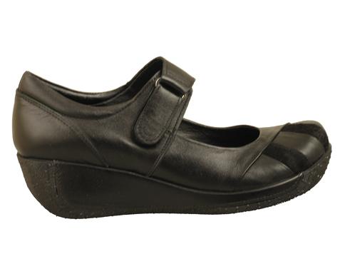 Дамски обувки с лепенка, изработени от висококачествена естествена кожа 5031972vch