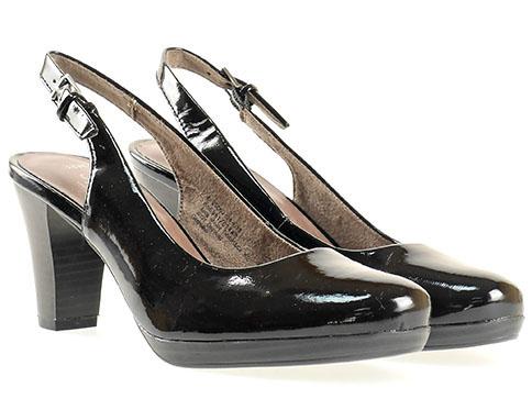 Дамски обувки на висок ток от Jana, изработени от висококачествена еко кожа 829562lch