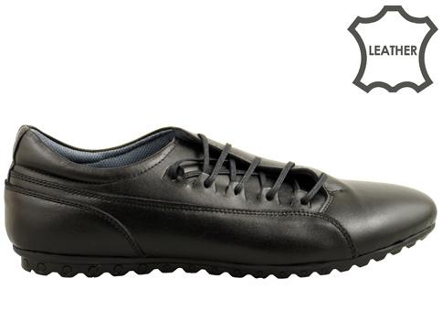 Мъжки спортни обувки със странични връзки, изработени от висококачествена естествена кожа 209ch