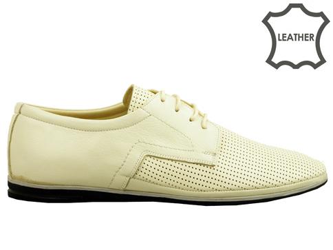 Мъжки обувки с връзки на меко и пластично ходило, изработени от естествен набук 027bj