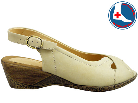 Ежедневни, анатомични сандали с удобно клин ходило, изпълнени от естествена кожа z99113bj