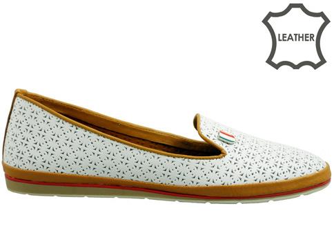 Равни дамски обувки от естествена кожа с меко и удобно ходило 1203b