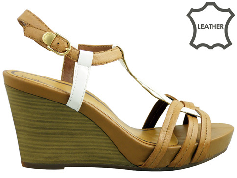 Модерни дамски сандали Tamaris с модна визия и удобна платформа 128367k