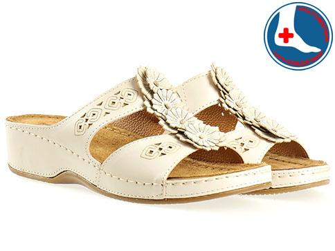 Анатомични дамски чехли с лазерна перфорация. 10670bj