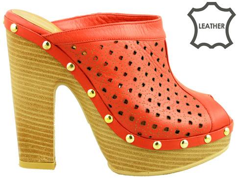 Комфортни дамски чехъли с модерна и иновативна визия, изработени от висококачествена естествена кожа 5214chv