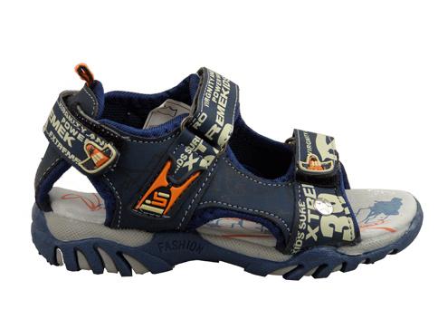 Детски сандали за момчета в син цвят с две лепенки 166029-30s