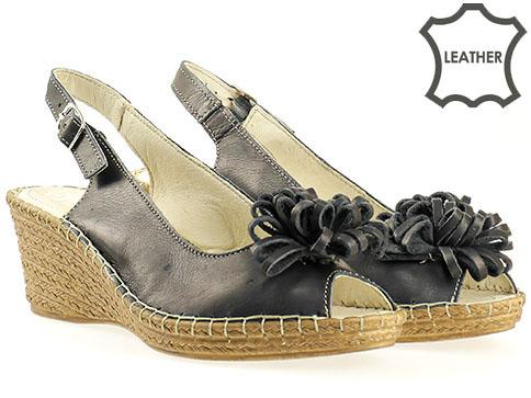 Български дамски сандали на платформа  513362s
