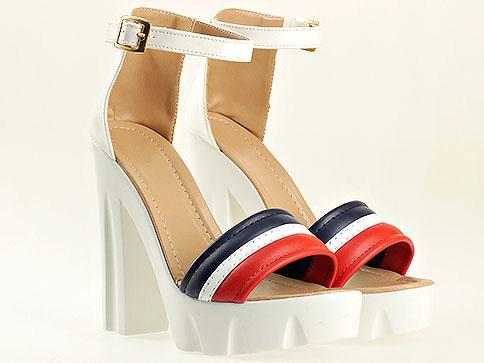 Атрактивен дамски модел сандали на ток и платформа 1753tomi