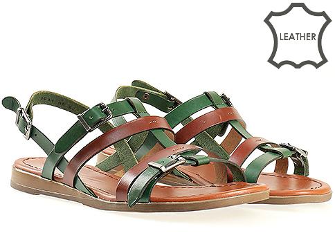 Ежедневни дамски сандали в свежа цветова комбинация 1011kz