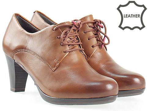 Удобни дамски обувки Tamaris с връзки и Antishokk система 123303k