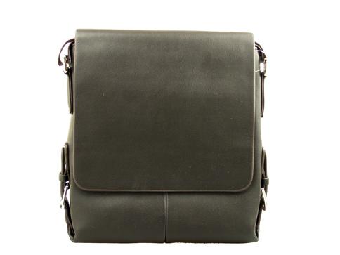 Изчистен модел мъжка чанта в тъмно кафяв цвят 3111k