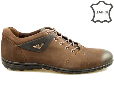 Качествени и удобни мъжки спортни обувки, изработени от естествен набук със стилна и модерна визия 2609nkk