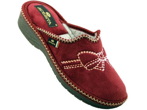 Kaчествени български дамски пантофи Spesita в цвят бордо dachiyabd