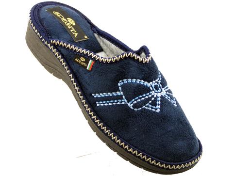 Kaчествени сини български дамски пантофи Spesita dachiyas