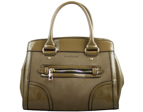 Атрактивна дамска чанта David Jones с иновативна визия, изпълнена в бежов цвят 36674lbj