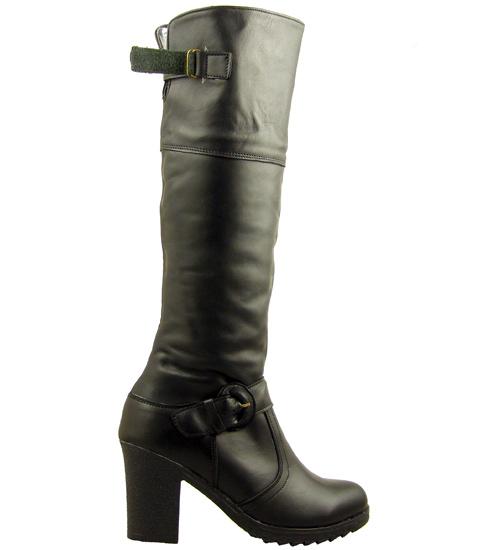 Дамски ботуши от естествена кожа, с грайферно и удобно ходило 122ch