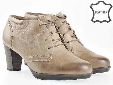 Комфортни дамски обувки Jana на висок ток в бежав цвят 825102bj